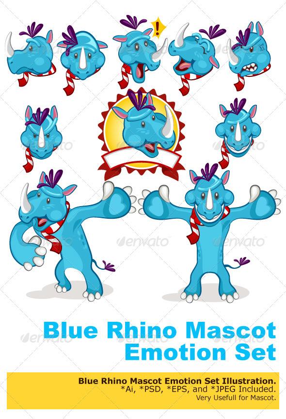GraphicRiver Rhino Mascot 3275345