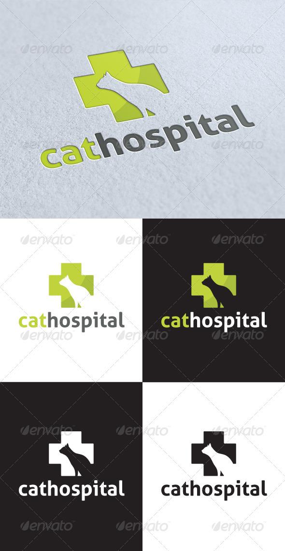 GraphicRiver Cat Hospital Logo 3275518