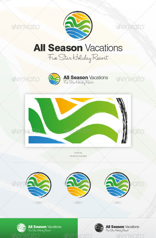All Season Vacation - Nature Logo Templates