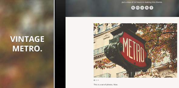 ThemeForest Vintage Metro A Blog Template for Tumblr 3276338
