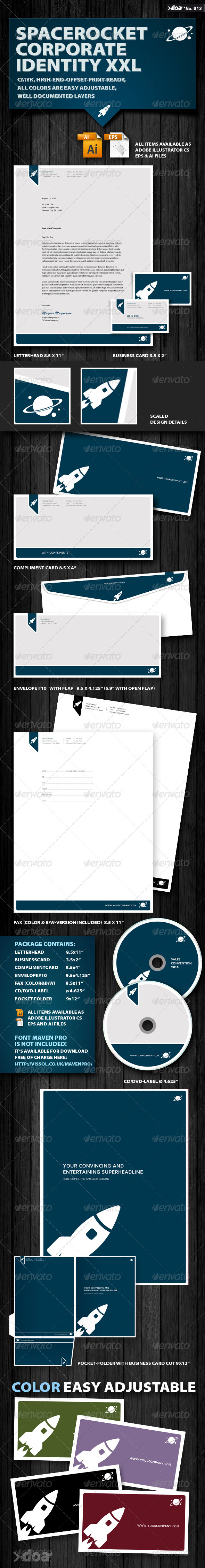 GraphicRiver Space Rocket Corporate Identity XXL 340739