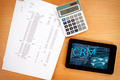 CRM concept in a tablet - PhotoDune Item for Sale