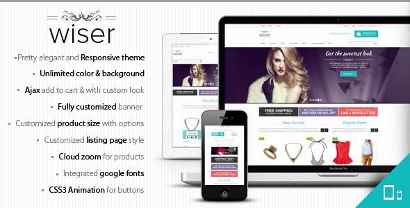 ThemeForest Wiser Responsive Magento Theme eCommerce Magento Shopping 3210617