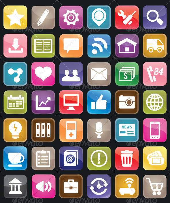 GraphicRiver Set of social media buttons for design 3276748