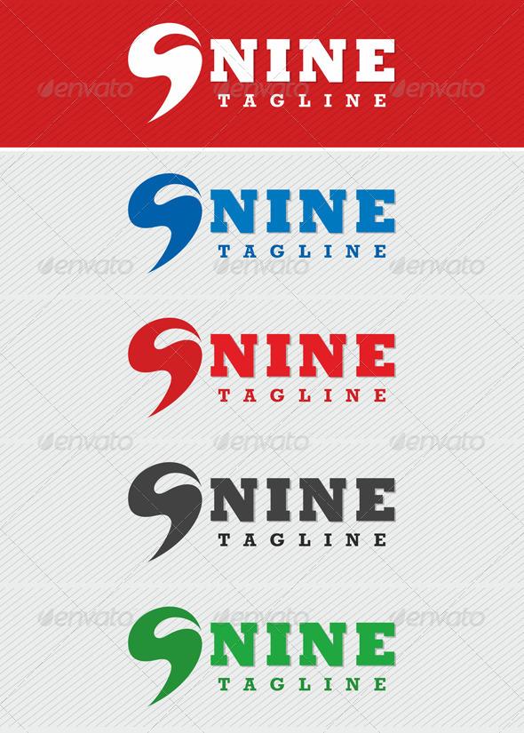 Nine - Logo - Numbers Logo Templates