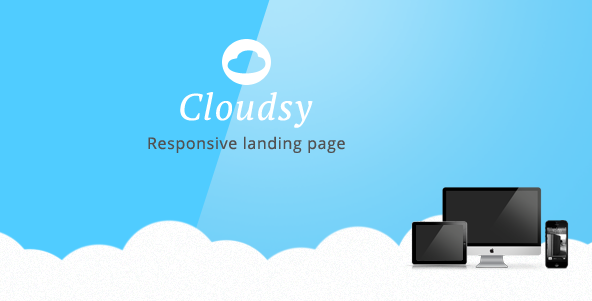 Cloudsy Responsive Landing Page