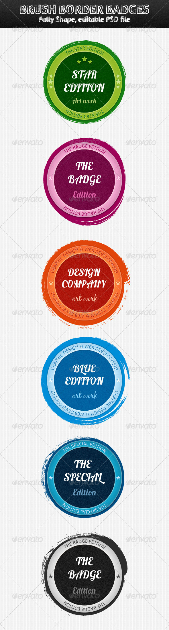 GraphicRiver Brush Border Badges 3277062