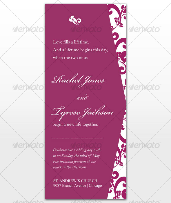 GraphicRiver Passion Wedding Card 115594