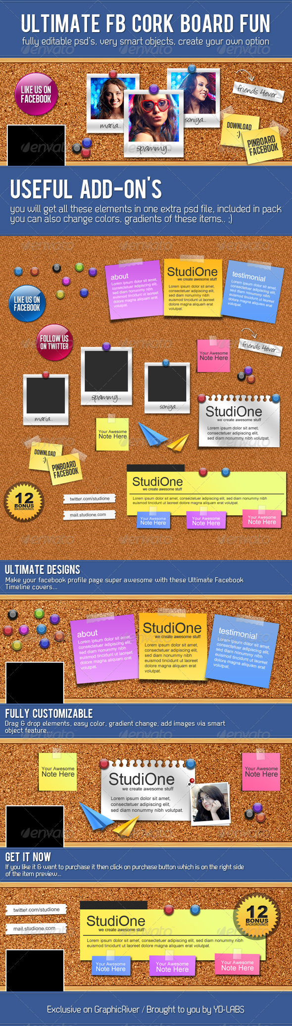 GraphicRiver FB Cork Board Fun 3277474