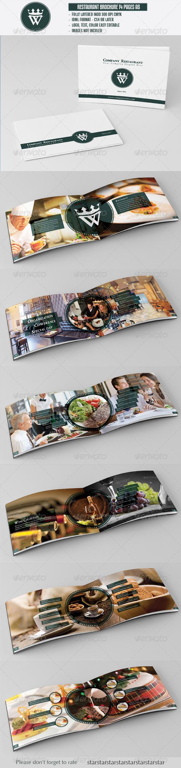 GraphicRiver Restaurant Cafe Brochure A5 3277570