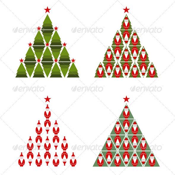 GraphicRiver Santa Christmas Tree 3277622