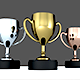 Gold, Silver, Bronze trophies