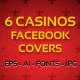 6 Casino FB Timeline Covers - GraphicRiver Item for Sale