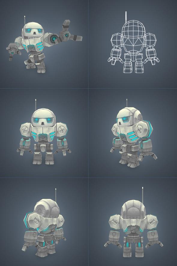3DOcean Mini Mech Low Poly 3277922