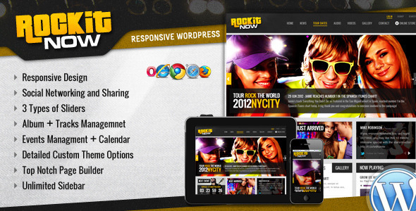 Rockit Now - Music Band Wordpress Theme - Music and Bands Entertainment
