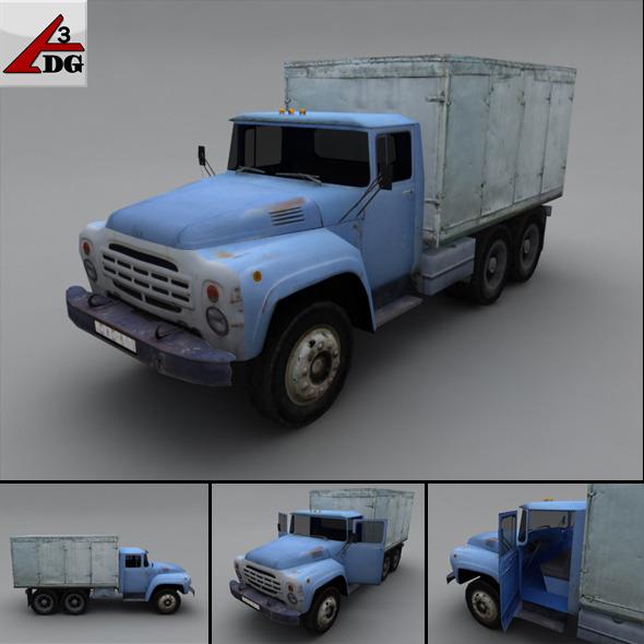 3DOcean ZIL LowPoly bread box car 3278661
