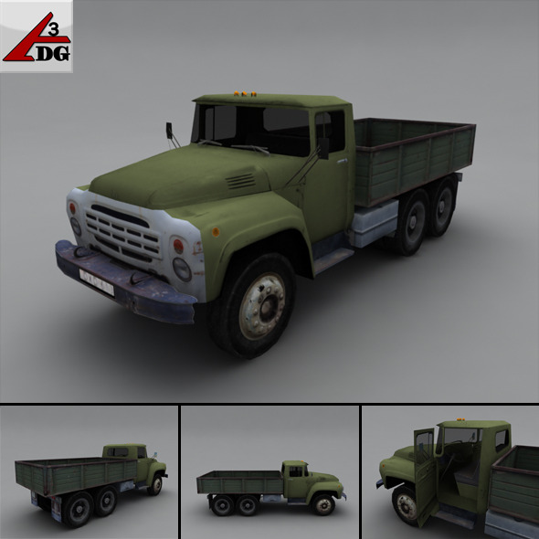 3DOcean ZIL LowPoly body chassis airborne 3278800