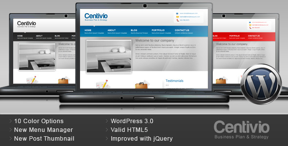 Centivio - Business Wordpress Theme - 10 Colors