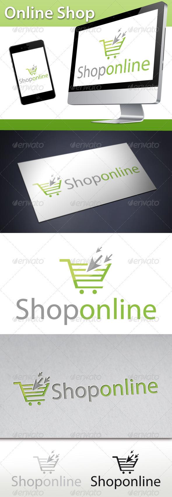 GraphicRiver Online Shop Click Cart Logo 3279015