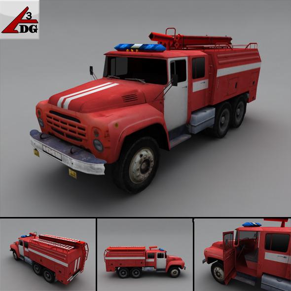 3DOcean ZIL LowPoly fire truck 3279047