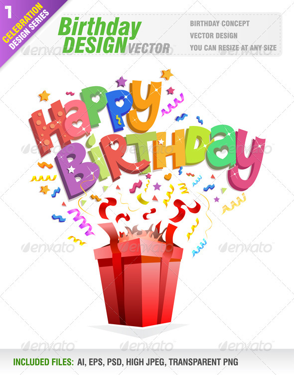 GraphicRiver Happy Birthday 3279054