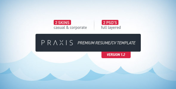 Praxis - Premium Resume/CV Template