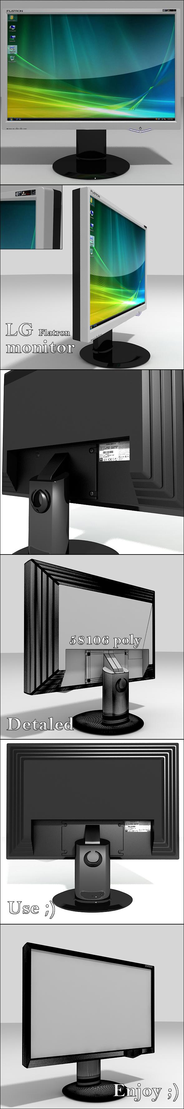 3DOcean LG Flatron Monitor 114535