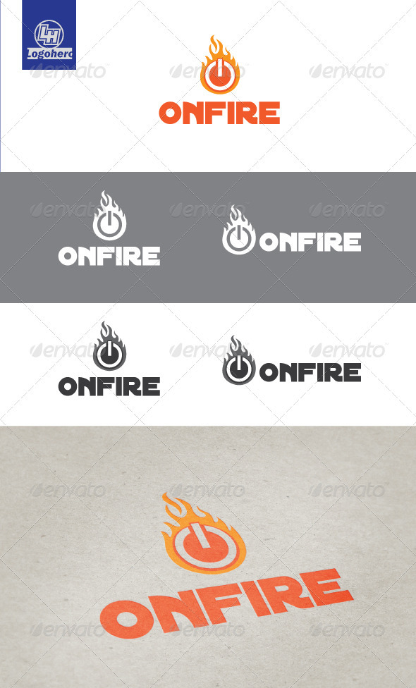 On Fire Logo Template - Symbols Logo Templates