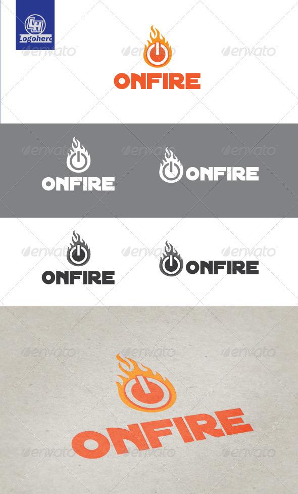 On Fire Logo Template