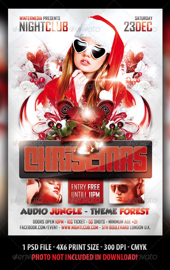GraphicRiver Christmas Party Flyer 3265931
