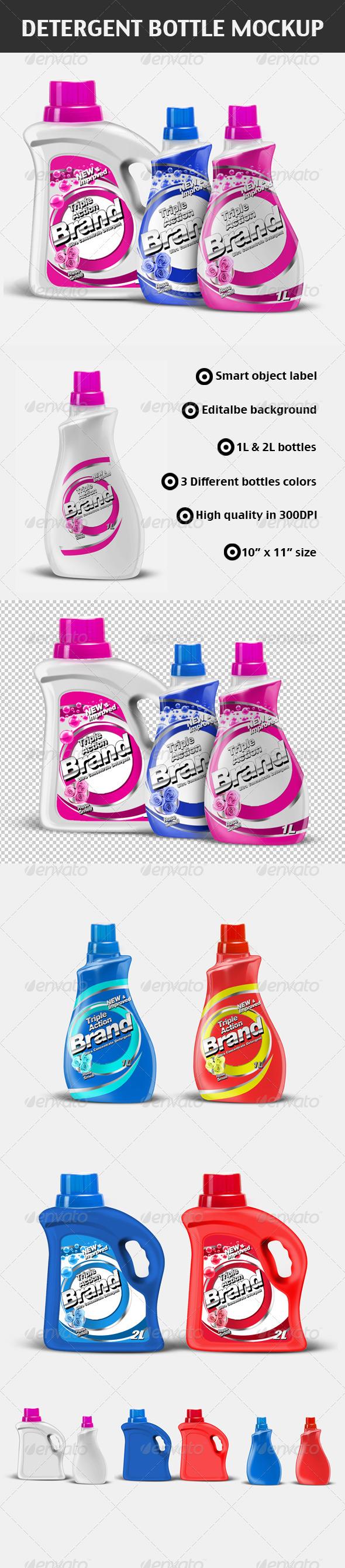 GraphicRiver Detergent Bottles Mock-up 3280384