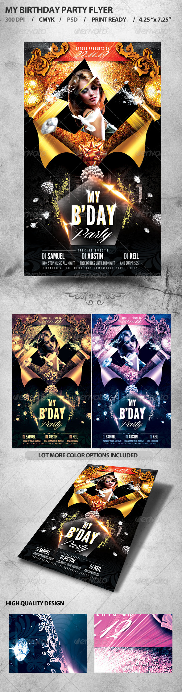 GraphicRiver My Birthday Party Flyer 3280481