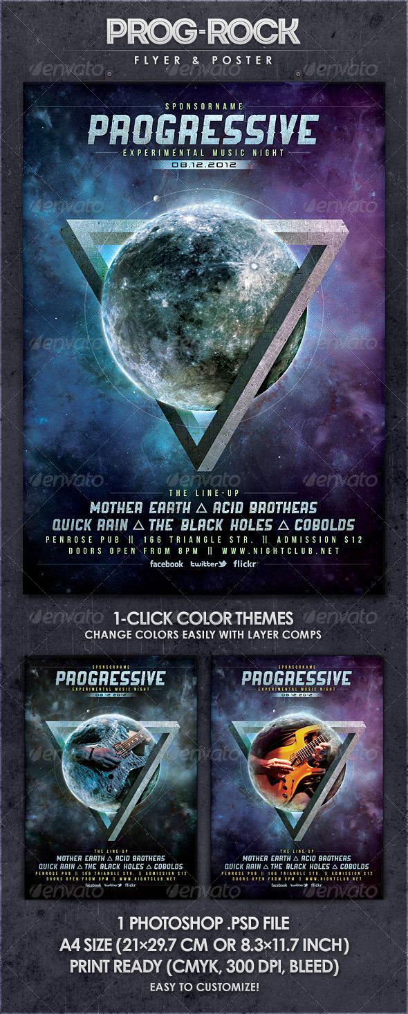 GraphicRiver Progressive Rock Vol.2 Flyer & Poster 2912462