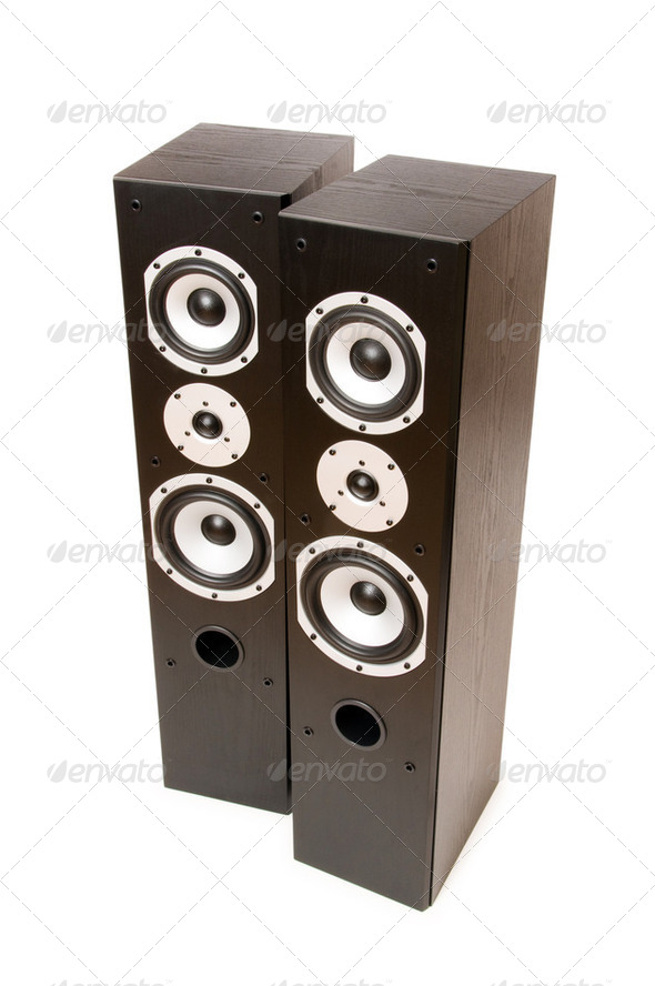 Two speakers isolated on the white background - Stock Photo - Images