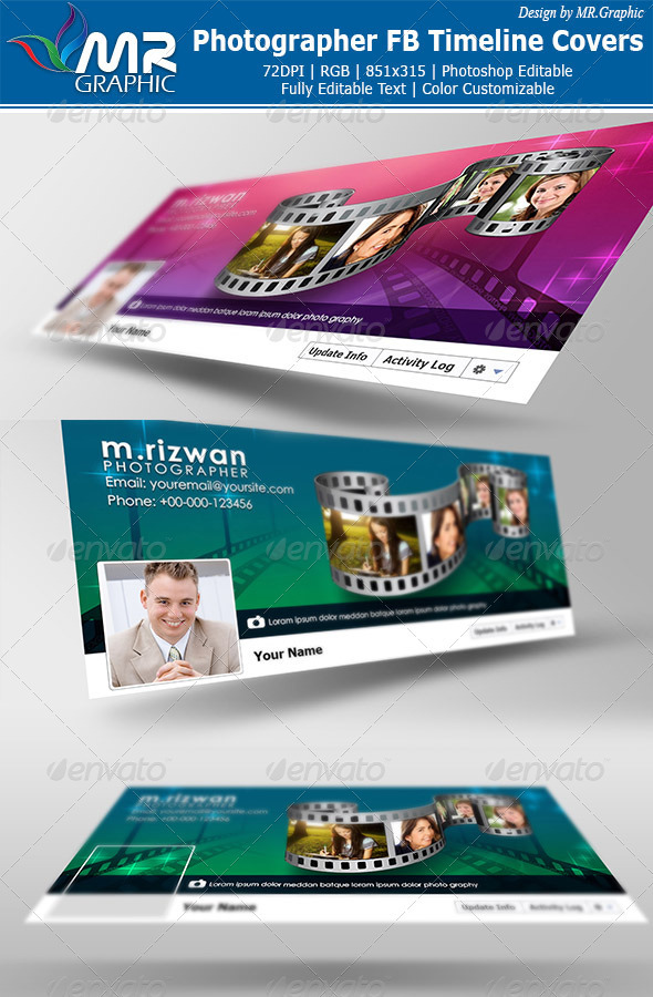 GraphicRiver Photographer FB Timeline Covers 3281245