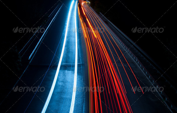 Abstract car tunnel - Stock Photo - Images