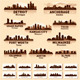 Skyline city set. 10 cities of USA #4 - GraphicRiver Item for Sale