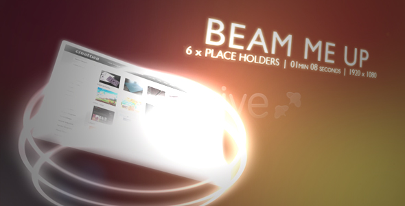 After Effects Project - VideoHive Beam me up 109975