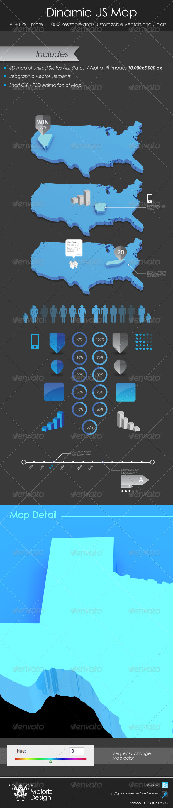 GraphicRiver Infographic USA Map 3281686