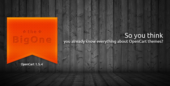 ThemeForest BigOne responsive premium OpenCart theme 3281962