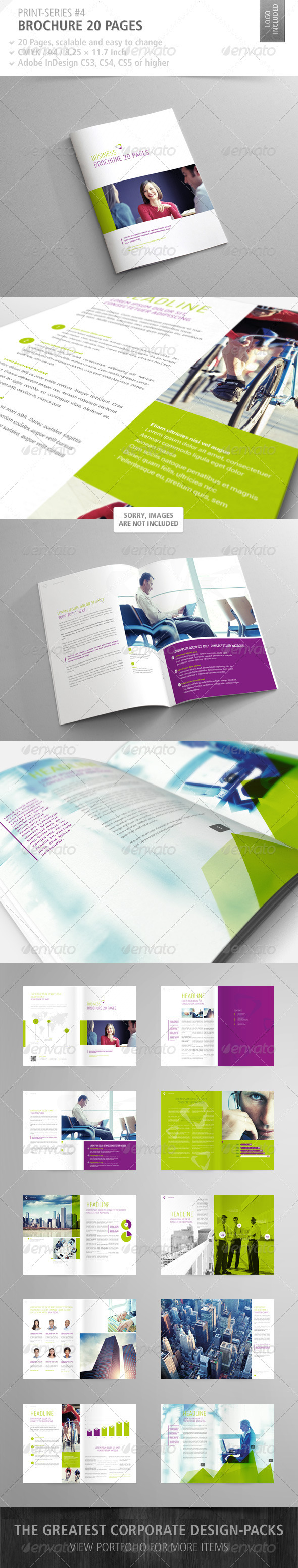 GraphicRiver Brochure 20 Pages Print-Series #4 3269410