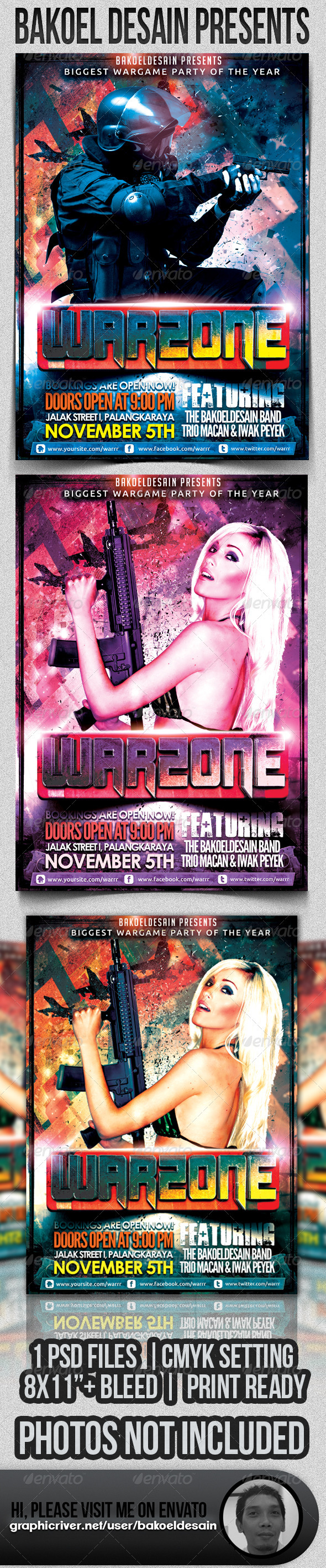 GraphicRiver WarZone Party 3198507