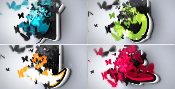 VideoHive Butterflies Logo Reveal 3282067
