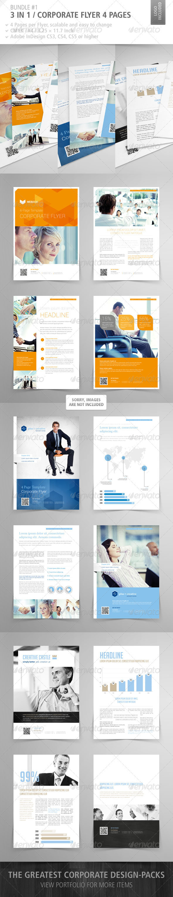 GraphicRiver Corporate Flyer 4 Pages Bundle #1 3282101