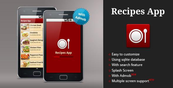 CodeCanyon Recipes App 2021676