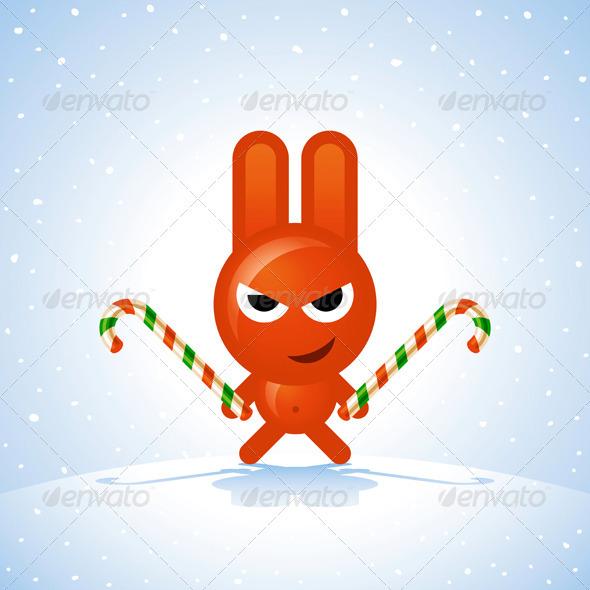 GraphicRiver Christmas Rabbit 3282162