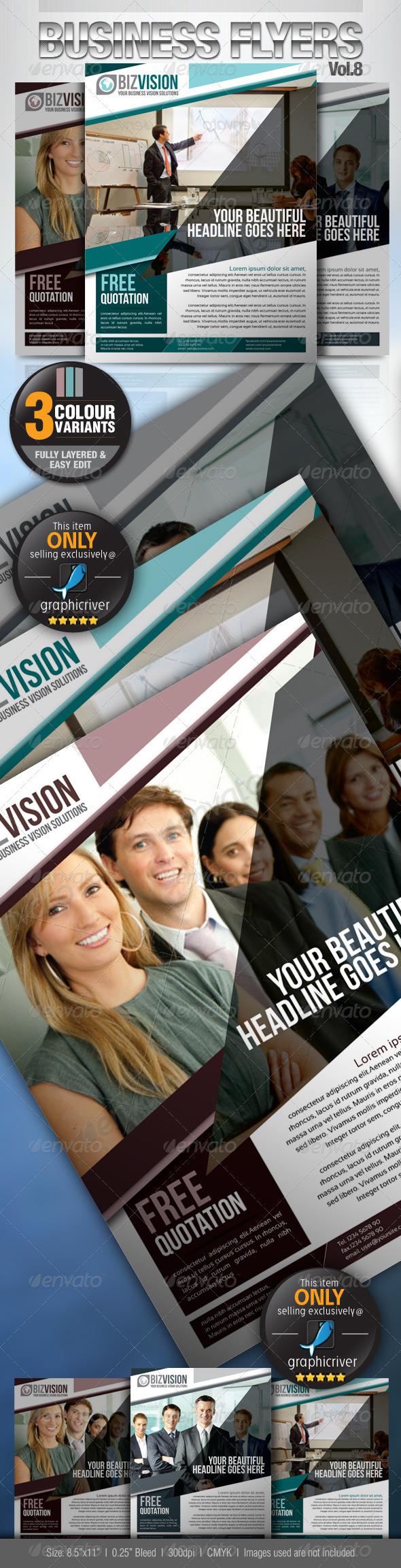 GraphicRiver Simple & Clean Corporate Flyer Vol.8 3271528