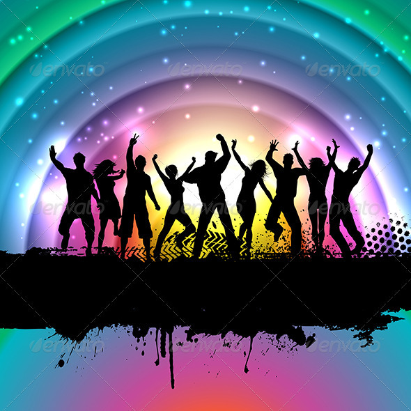 GraphicRiver Party People Background 3282350