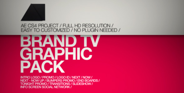 After Effects Project - VideoHive Brand TV Graphic Pack 3282352