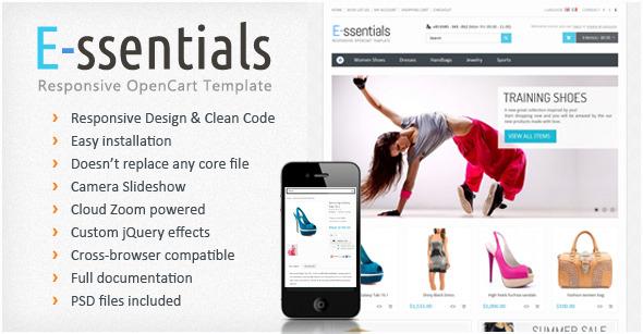 E-ssentials - Responsive OpenCart Template